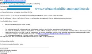 Elektrizitätswerke Düsseldorf Ihre Belieferung wird kurzfristig beendet